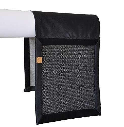 Kratzmatte Kratzschutz Sofa Matte für Katze Schutzhülle für Couch Kratzteppich Für Katze Sizal Hohe Qualität (Schwarz)