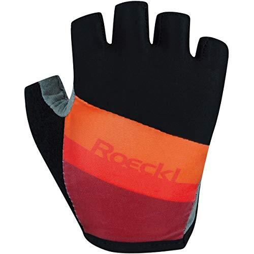 Roeckl Ticino Handschuhe Kinder Black/orange Handschuhgröße 7 2021 Fahrradhandschuhe
