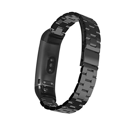 Amuse-MIUMIU Armband für Huawei Band 3/Huawei Band 3 Pro, Ersatz Edelstahl Quick Release Wrist Strap für Männer&Damen Uhrenarmband für Huawei Band 3/Huawei Band 3 Pro (Schwarz)