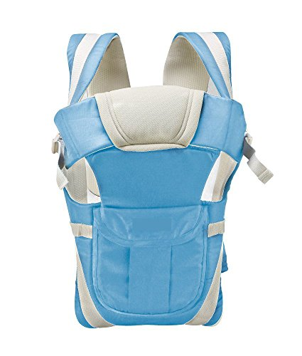 GTC Adjustable Hands-Free 4-in-1 Baby Carrier Bag , Carry Bag , Front Carry Bag with Comfortable Head Support & Buckle Straps (Sky-Blue)