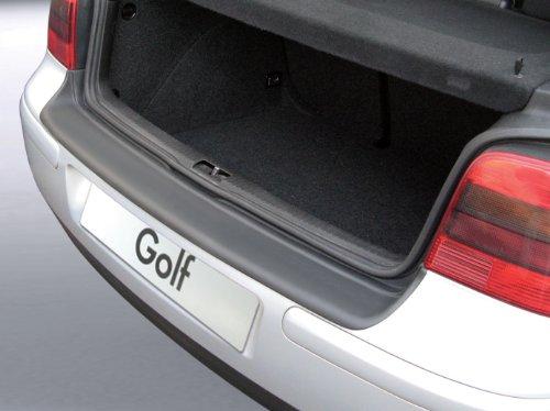 Aroba AR233 Ladekantenschutz kompatibel für Volkswagen Golf IV 3 & 5 Türer (MK 4) ab BJ. 09.1997 bis 08.2003 Stoßstangenschutz passgenau mit Abkantung ABS Farbe schwarz