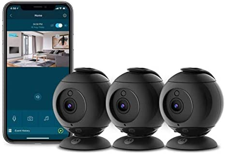 Motorola Focus89B 3 Wireless Indoor Cameras for Home Security Surveillance System with Sound product image