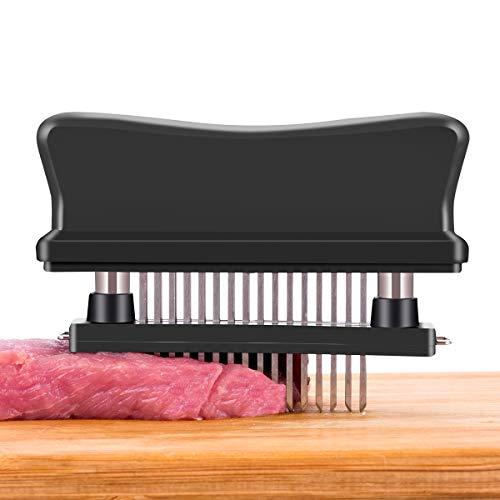 Flytt Meat Tenderizer, 48 Stainless Steel Ultra Sharp Needle Blade Tenderizer Tool for Tenderizing Steak, Beef,Marinade and BBQ (01)