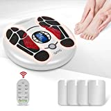 OSITO EMS Foot Circulation Stimulator Device TENS Unit with 4 Electrode Pads, Foot Massager for Pain Relieve, Aching of Heavy Feeling Foot and Leg Pains, Improves Circulation
