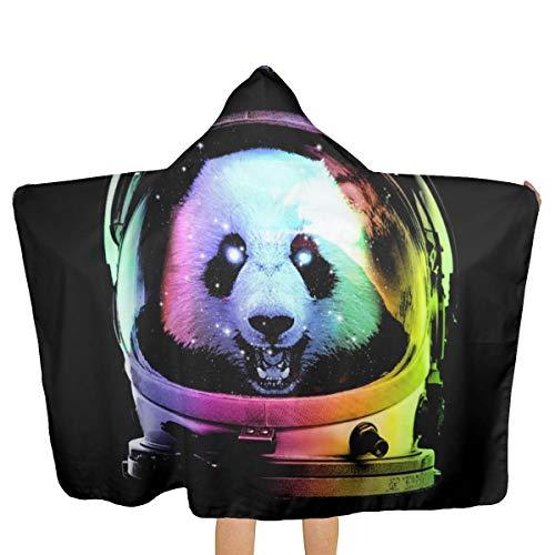 Toalla de playa con capucha con diseño de astronauta en 3D, diseño de oso panda, para viajes en el espacio, impermeable, súper absorbente, resistente al sol, unisex, playa y piscina