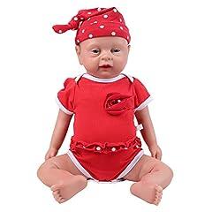 IVITA 新生児人形 フルシリコン製ベビードール 本物のリボーンベビードール フルウェイト本物の赤ちゃん人形 リアルな赤ちゃん人形 (46cm 女の子)