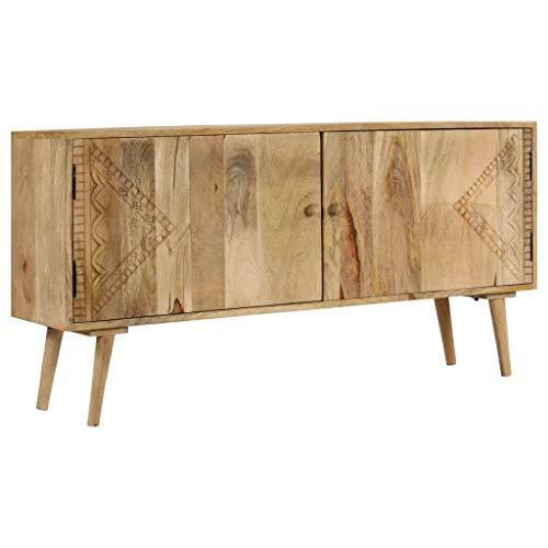 N/O Viel Spaß beim Einkaufen mit Sideboard Massivholz Mango 120 x 30 x 60 cm