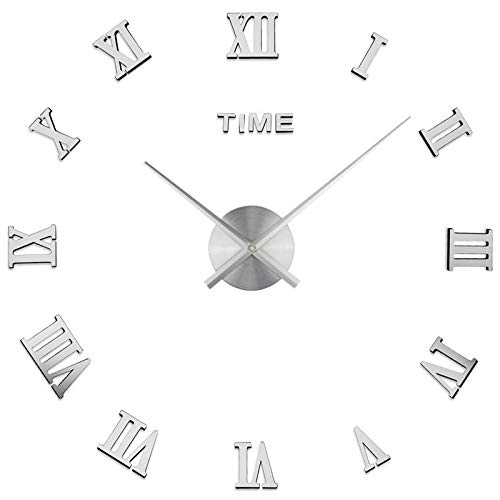 Diy Three-Dimensional Character Large Wall Clock Creative Living Room Clock Modern Minimalist Wall Sticker Clock