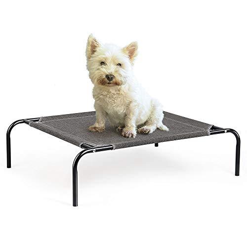 Cama elevada para perro para gato, portátil, duradera, para mascotas, lavable, para interiores o exteriores, tumbona para raza mediana y pequeña