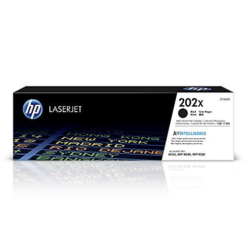 HP 202X | CF500X | Toner-Cartridge | Black | Works with HP LaserJet Pro M254, M281cdw, M281dw, M281fdw | High Yield