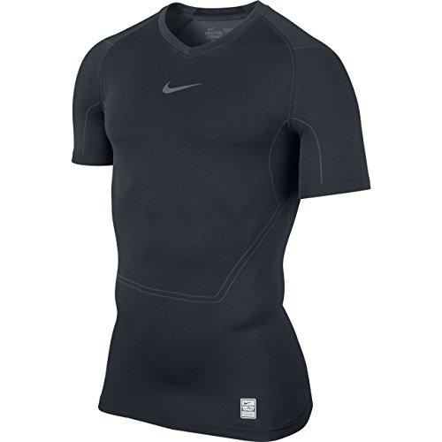 Nike PRO Combat - Maglia Leggera Senza Cuciture, a Maniche Corte, da Uomo, Nero (Nero), S