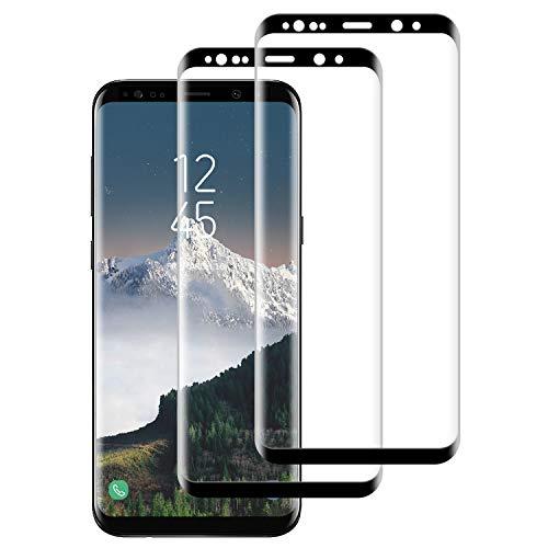 DASFOND 2 Piezas Protector Pantalla de Samsung Galaxy S9 Plus Cristal Templado [Cobertura Completa, 9H Dureza, Alta Definicion, Alta sensibilidad, Protector de Pantalla para Samsung Galaxy S9 Plus