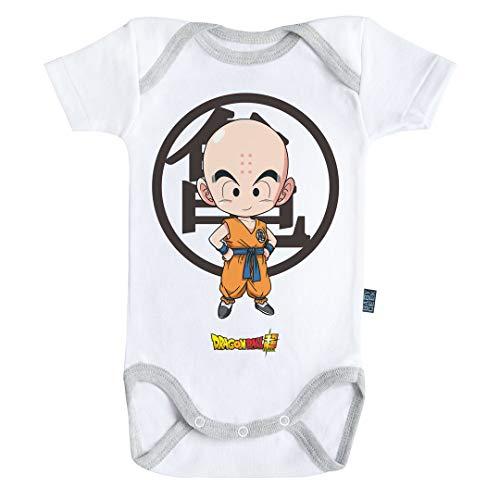Baby Geek Krilin - Dragon Ball Super ™ - Licence Officielle - Body Bébé Manches Courtes (12-18 Mois)