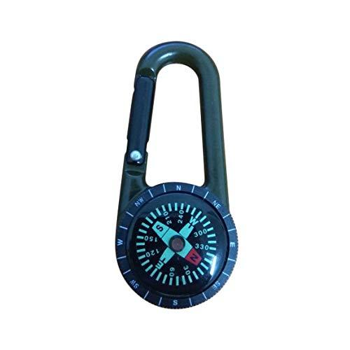 DC27T Porte-clés Multifonctionnel Randonnée Portable en Alliage de Zinc Mousqueton Mini Boussole Sports de Plein Air Pièces Porte-clés Paperllong