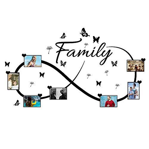 Casa Adesivi da Parete per Foto Famiglia Family Muro Adesivo Murali Decorativo Decorazione fai da te Domestica Porta Camera da Letto Soggiorno