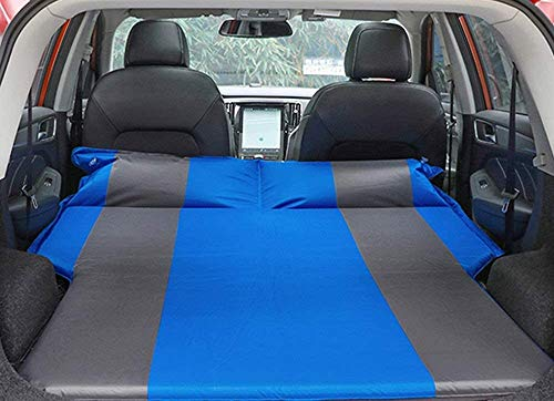 LHXD SUV Car Inflatable Bed Air Mattress Car Cushion Trunk Travel Pad Car Sleeping Mat Built-in High-Elastic Sponge Automatic Inflation Self-Driving Travel Wild Camping Blue