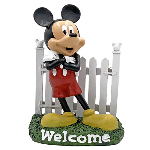 The Galway Company Disney Mickey Mouse Welcome Garden Statue, Hand Painted, 7 inches Tall and 6 inches Wide, Official Disney Licensed Product.