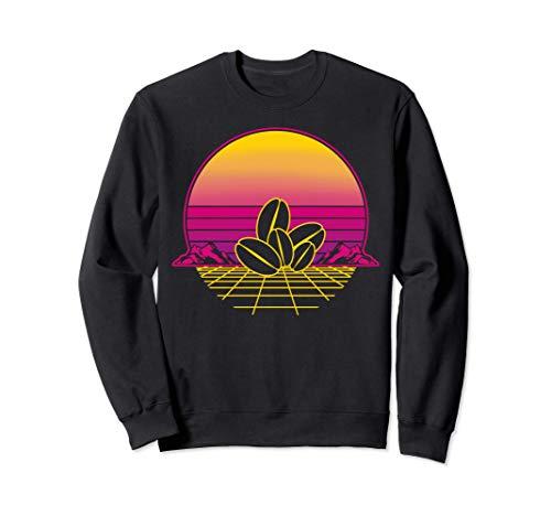 Kaffeebohne Cafe Kaffee Retro Vintage Sunset Sweatshirt