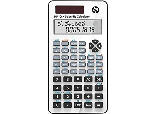 HP 10S + Taschenrechner Taschenrechner Wissenschaftlicher Taschenrechner Weiß – Taschenrechner Wissenschaftlicher Taschenrechner, 12 Zahlen, 2 Zeilen, Batterie/Solar, Weiß