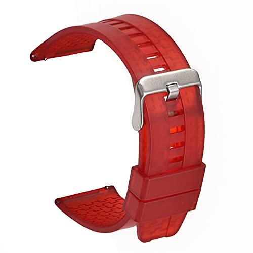 DFKai1run Correa de Silicona, Reloj de Reloj 22 mm Suave Silicona Correa Curvada Codo Deportes Hombres y Mujeres de Goma Universal de la muñeca de la muñeca de la Pulsera de la Banda de la Pulsera de