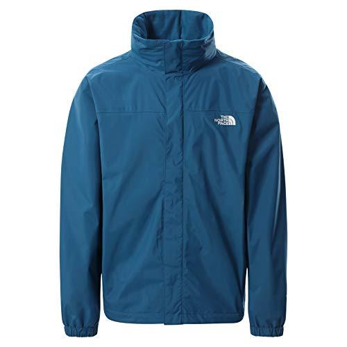 The North Face – Giacca con Cappuccio da Uomo Resolve – Giacca da Escursionismo Impermeabile e Traspirante - Moroccan Blue, S