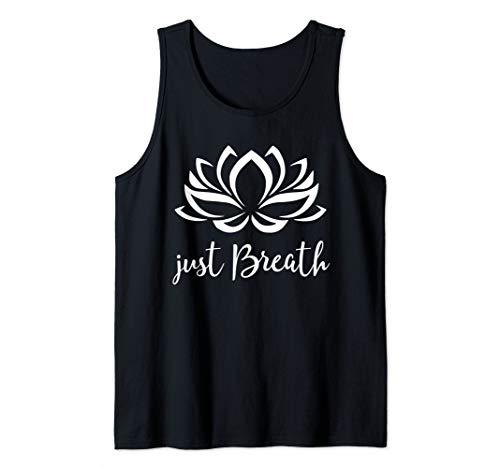 Just Breathe Shirt Buddha Lotus Flower Meditation Yoga Tank Top