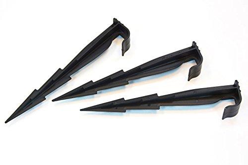 GardenPlast WaterPEG, Fixierungshaken für Bewässerungsleitung, Befestigungsstifte für Tropfrohren 160 mm 50 teilig, schwarz, 2.2 x 3.3 x 16 cm, 06-005