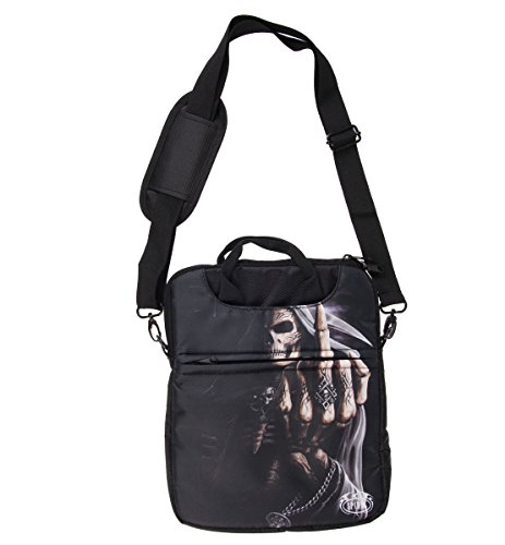 Spiraal 10 inch Bone Finger Tablet Bag - Zwart