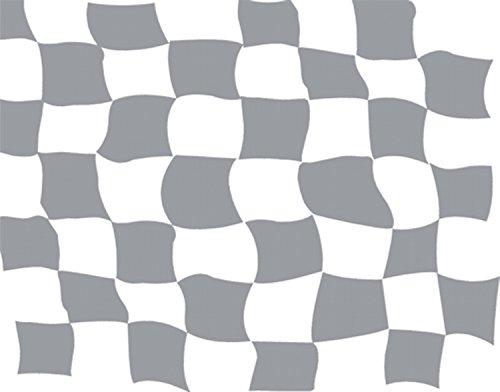 Aufkleber Flaggen-Dekor silber