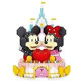 JIGSAWTOY YAW Mickey Mouse Castero Caso Caja De Anillos Miniaturos Bloques De Construcciones Puchkezzle Distribuido Dibujos Animados Niños Educativo Regalo