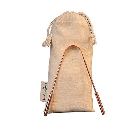 HealthAndYoga(TM) - Raschietto per la pulizia della lingua chirurgica, anti-batteri, impugnatura non sintetica, sterilizzabile