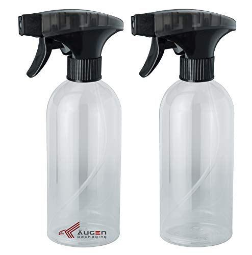ÄUGEN GmbH | 2 Stk a 500ml Sprühflasche | schwarz transparent Sprühkopf | Trigger | leer | Spray Bottle