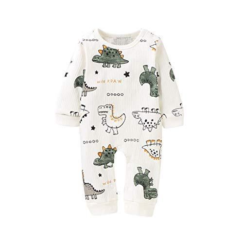 Sayla Dinosaurier Pyjama für Jungen und Mädchen, Jumpsuit Schlafanzug Mädchen Baby-Jungen Schlafstrampler Romper Einteiler Langarm Onesies Nachtwäsche Basics Schlafoverall - Baby-Pyjama