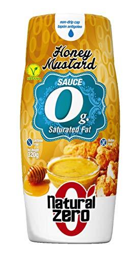 NATURAL ZERO Salsa Mostaza y Miel 0 Calorías-Sin Grasas-Sin Azúcar-320 gr Honey Mustard Sauce, 1 Unidad