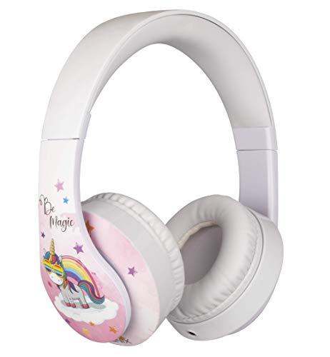 Konix Unik Be Magic - Casque Audio Enfant Licorne Rose - Compatible Mp3/Pc/Switch/Ps4/Xbox