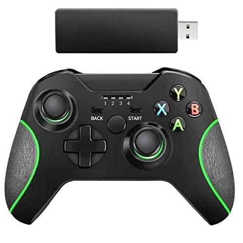 Controlador inalámbrico GamePad Joystick Joypad Controlador de interruptor remoto para Microsoft Xbox One/S/X/E / PS3 / Windows 10 Herramientas negras gratis