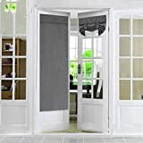 gshhd0 French Door Panel,2pcs Privacy Door Curtains, Blackout Drapes Door Curtain Shading Blinds Privacy Protection,Thermal Insulated Blackout Curtain Patio Door Panel