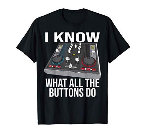Funny Music Engineer Gift Cute DJ Sound Technician Men Women T-Shirt