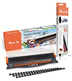 Peach PB200-09A Plastic Binding Machine | 50-sheet binding | Binding max. 12 mm | Punch capacity 4 sheets | With 25-piece starter set