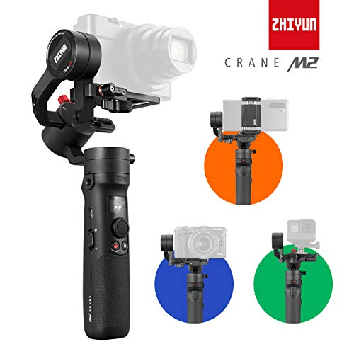 Zhiyun Crane-M2 [Official Dealer] 3-Axis Gimbal Stabilizer for Smartphones Action Camera DC Mirrorless Camera, zhiyun-crane-m2-gimbal-smartphone-stabilizer