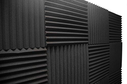 Acoustic Foam Panels; Studio Wedge Tiles; 12 Pack; 1' X 12' X 12'