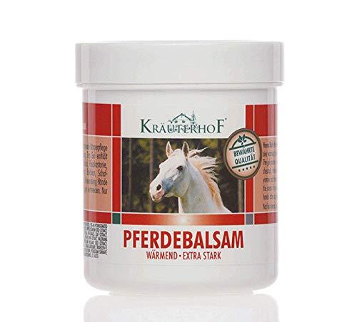 Balsamo di cavallo Kräuterhof 500ml, Crema riscaldante extra forte (2 pezzi) - 768