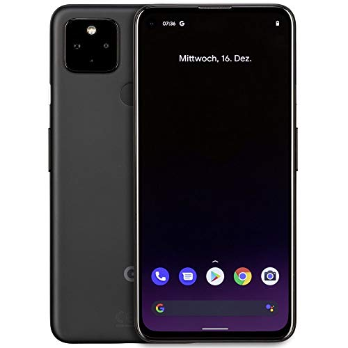 Google Pixel 4a 5G 128GB Handy, schwarz, Just Black, Android 11