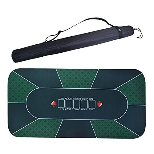 ポータブルポーカーテーブルマット ポーカーテーブルパッド耐久性のある快適なゴムゲームテーブルクロスマットのショルダーバッグ