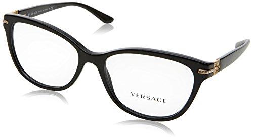 Versace Damen 0Ve3205B Brillengestell, schwarz, 52
