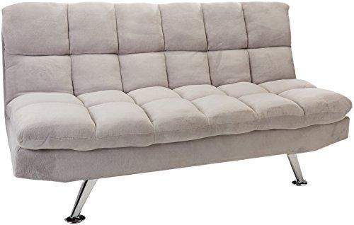 Coaster Fine Furniture 500775 Sofa Ajustable Estilo Transicional Tapizado en Tela, Color Gris