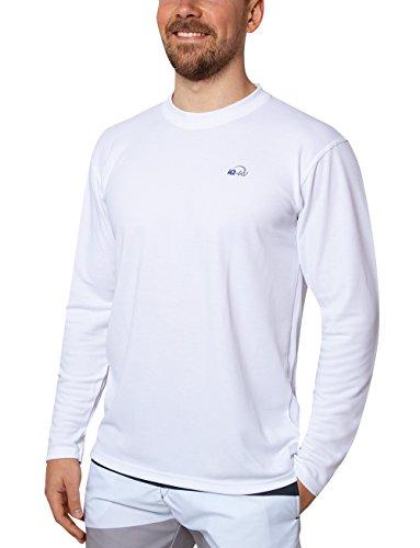 iQ-UV Herren Uv T-shirt Langarm 50+ Sonnenschutz mit Rundhals, regular geschnitten, white, 3XL/58, 5491224100-583XL