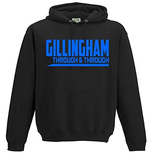 Gillingham Through and Through Premium Hoodie Gift Mens Present (XX-Large) Black
