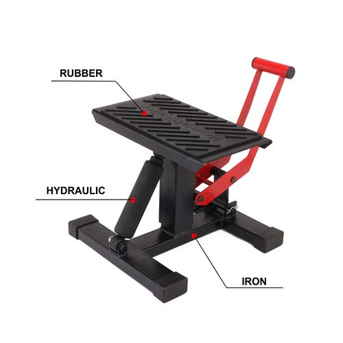 Motorcycle Jack Dirt Bike Stand - Adjustable Lift Hoist Table Height Lifting Stand
