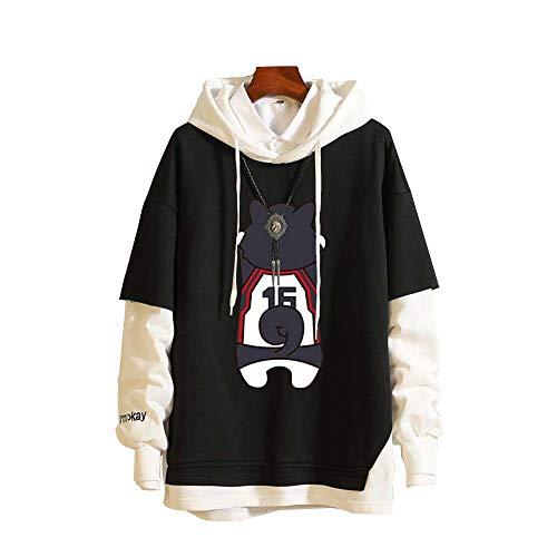 Spricen Japan Anime Kuroko's Basketball Hoodies Herren Damen Kapuzenpullover Sweatshirts Pullover Tops Pulli Mantel Jacke XXL